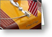 Chris Greeting Cards - Chris Craft Custom Greeting Card by Neil Zimmerman