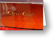 Strips Greeting Cards - Chris Craft Logo Greeting Card by Michelle Calkins