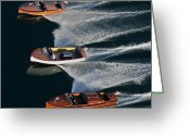 Club Greeting Cards - Chris Craft Runabouts Greeting Card by Steven Lapkin