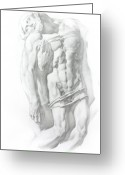 Human Body Symbolism Drawings Greeting Cards - Christ 1 Greeting Card by Valeriy Mavlo