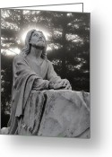 West Virginia Greeting Cards - Christ at Prayer Greeting Card by Robert  Suits Jr