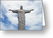 Jesus Painting Greeting Cards - Christ the Redeemer Greeting Card by Paul Landowski