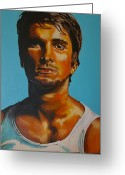 Hottie Greeting Cards - Christian Bale Greeting Card by Gracie Villareal