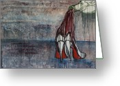 Pouring Greeting Cards - Christian Louboutin Greeting Card by Victoria Dietz