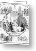 Alms Greeting Cards - Christmas, 186o Greeting Card by Granger