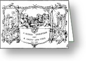 Cole Photo Greeting Cards - Christmas Card, 1843 Greeting Card by Granger