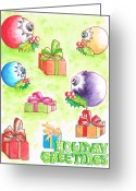 Vertical Painting Greeting Cards - Christmas-card Greeting Card by Carlos G Groppa