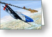 P-51 Mustang Greeting Cards - Christmas Carol Greeting Card by Charles Taylor