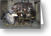 Men Greeting Cards - Christmas Carol Greeting Card by Granger