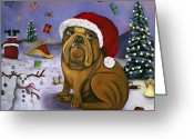 Ornaments Painting Greeting Cards - Christmas Crash Greeting Card by Leah Saulnier The Painting Maniac