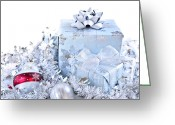  Wrapping Greeting Cards - Christmas gift boxes Greeting Card by Elena Elisseeva