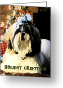 Kansas City Greeting Cards - Christmas Greetings from Bijou Greeting Card by Glenna McRae
