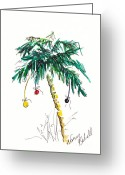 Holiday Notecard Greeting Cards - Christmas in Florida Tree Greeting Card by Michele Hollister - for Nancy Asbell