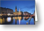 Hamburg Greeting Cards - Christmas in Hamburg Greeting Card by Marc Huebner