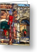 Braches Greeting Cards - Christmas in Salado Texas Greeting Card by Linda Phelps