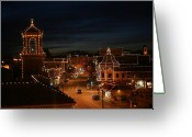 Kansas City Greeting Cards - Christmas in the City Greeting Card by Eddie Miller
