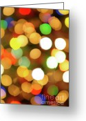 Contemporary Greeting Cards - Christmas Lights Greeting Card by Carlos Caetano