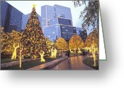 Decoration And Ornament Greeting Cards - Christmas Lights Illuminate The James Greeting Card by Richard Nowitz