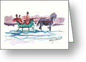 Holiday Notecard Greeting Cards - Christmas Memories Greeting Card by Michele Hollister - for Nancy Asbell