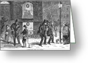 Winslow Homer Greeting Cards - Christmas Scene, 1858 Greeting Card by Granger