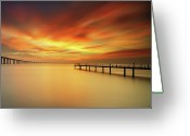 Da Greeting Cards - Christmas Sky Greeting Card by CResende