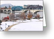 Point Park Greeting Cards - Christmas Snow Greeting Card by Tom and Pat Cory