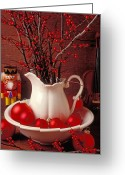 Nut Greeting Cards - Christmas still life Greeting Card by Garry Gay