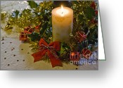 Giving Greeting Cards - Christmas Time  Greeting Card by Sophie De Roumanie