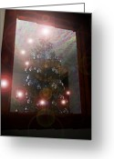 James Barnes Greeting Cards - Christmas Tree Angels Greeting Card by James Barnes