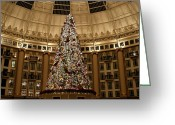 West Baden Greeting Cards - Christmas Tree Greeting Card by Sandy Keeton