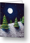 Christmas Pastels Greeting Cards - Christmas Trees II Greeting Card by Nancy Mueller