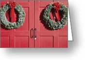 Wreaths Greeting Cards - Christmas Wreaths Greeting Card by Skip Nall