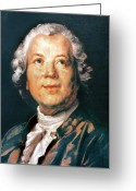 Cravat Greeting Cards - Christoph Willibald Gluck Greeting Card by Granger