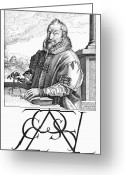 Autograph Greeting Cards - Christophe Plantin (1520-1589) Greeting Card by Granger
