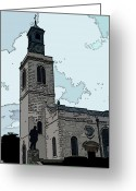 Westminster College Greeting Cards - Christopher Wren Church Greeting Card by David Bearden