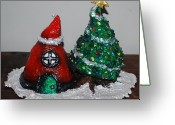 Star Sculpture Greeting Cards - Chritmas Centerpiece Greeting Card by Alison  Galvan