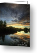 Sunset Framed Prints Greeting Cards - ChromaLite Echo 1.0 Greeting Card by Yhun Suarez