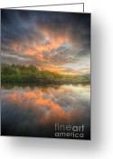 Sunset Framed Prints Greeting Cards - Chromalite Echo 4.0 Greeting Card by Yhun Suarez