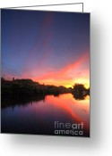Sunset Framed Prints Greeting Cards - ChromaLite Echo 5.0 Greeting Card by Yhun Suarez