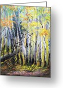 Chromatic Painting Greeting Cards - Chromatic Autumn Greeting Card by Patti Gordon