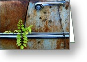 Rusted Cars Greeting Cards - Chrome Is Forever 3 Greeting Card by Mike Witte