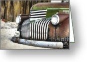 Old Chevrolet Truck Greeting Cards - Chromed Beauty  Greeting Card by Reflective Moments  Photography and Digital Art Images