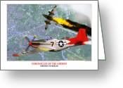 Bombers Greeting Cards - Chronicles Of The Airmen - Mission To Berlin Greeting Card by Jerry Taliaferro