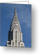 2007 Greeting Cards - Chrysler Building, 2007 Greeting Card by Granger