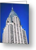 Building Tapestries Textiles Greeting Cards - Chrysler Building Greeting Card by John Greim