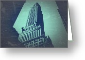 Manhattan Digital Art Greeting Cards - Chrysler Building  Greeting Card by Irina  March