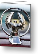 Bruce Lee Greeting Cards - Chrysler Imperial Hood Ornament Greeting Card by Paul Ward