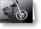 Chopper Greeting Cards - Chucks Chopper Greeting Card by Stephen Warren