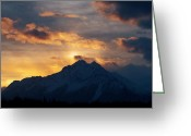 October Greeting Cards - Chugach Sunrise October 2011  Greeting Card by Ron Day