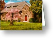 Thank You Greeting Cards - Church - Heaven Created Greeting Card by Mike Savad